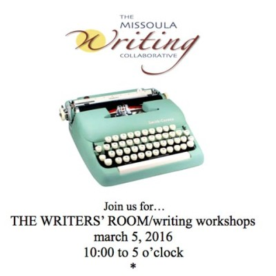 Save the date! THE WRITING ROOM/writing workshops
