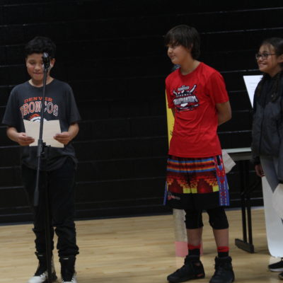 Students Read alongside Victor Charlo at Salish-Kootenai College